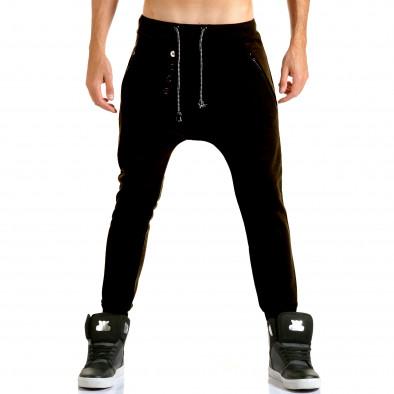 Ανδρικό μαύρο παντελόνι jogger Jack Berry it110915-29 2