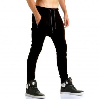 Ανδρικό μαύρο παντελόνι jogger Jack Berry it110915-29 4