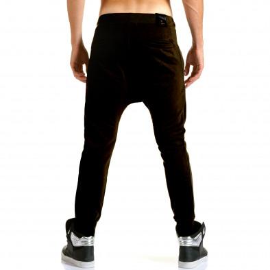 Ανδρικό μαύρο παντελόνι jogger Jack Berry it110915-29 3