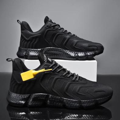 Ανδρικά μαύρα sneakers Plus Size gr020221-17 3