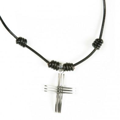 Ανδρικό μαύρο κολιέ Fashionmix UM2209121 2