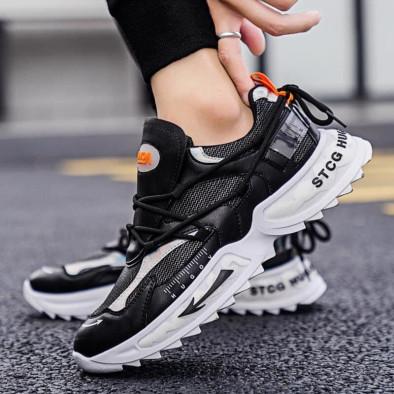 Chunky ανδρικά μαύρα sneakers gr020221-12 3