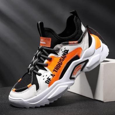 Chunky ανδρικά πορτοκαλιά sneakers gr020221-13 3