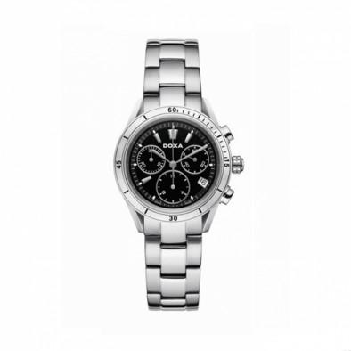 Ανδρικό ρολόι Doxa Trofeo Chronograph Black Dial