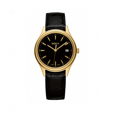 Ανδρικό ρολόι Doxa Tradition Gold Black Dial