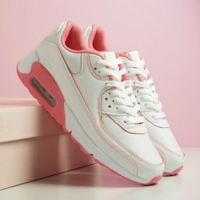 Γυναικεία λευκά-ροζ αθλητικά παπούτσια με αερόσολα it051219-11 5