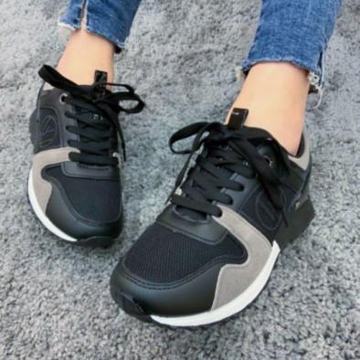 Γυναικεία  sneakers σε μαύρο και γκρι it110221-1 5