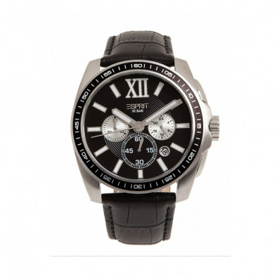 Ανδρικό ρολόι Esprit Quartz Chronograph PVD Black