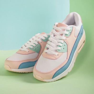 Γυναικεία αθλητικά παπούτσια με αερόσολα σε απαλά χρώματα it051219-12 5