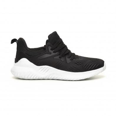 Ανδρικά μαύρα αθλητικά παπούτσια FM it200619-1 2