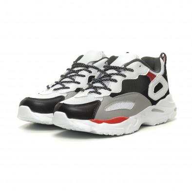 Ανδρικά Chunky αθλητικά παπούτσια σε άσπρο it040619-9 3