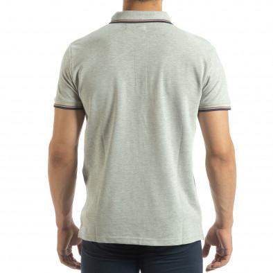 Ανδρική γκρι polo shirt  it120619-24 3
