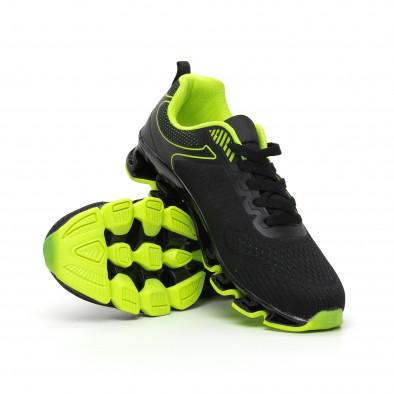 Ανδρικά μαύρα και νέον αθλητικά παπούτσια Blade it110919-7 4