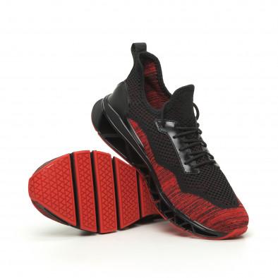 Ανδρικά  αθλητικά παπούτσια Knife μαύρο και κόκκινο it050719-3 4