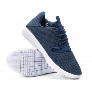 Ανδρικά μπλε αθλητικά παπούτσια ελαφρύ μοντέλο it301118-2 4