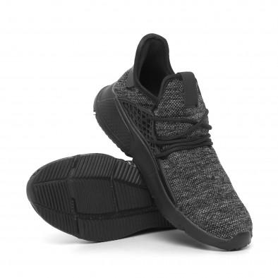 Ανδρικά μαύρα αθλητικά παπούτσια Kiss GoGo it260520-1 4