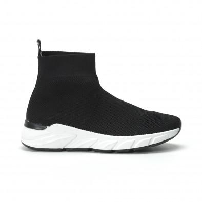 Γυναικεία μαύρα ψηλά sneakers καλτσάκι it250119-59 2