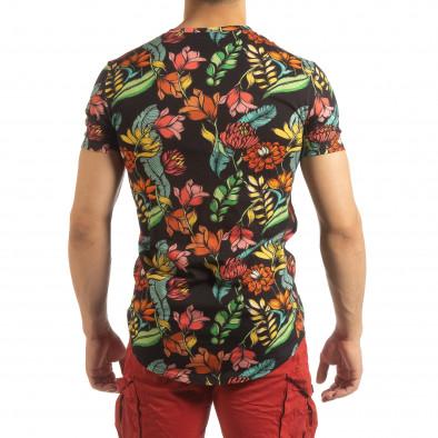 Ανδρική πολύχρωμη φλοράλ κοντομάνικη μπλούζα  it090519-59 4