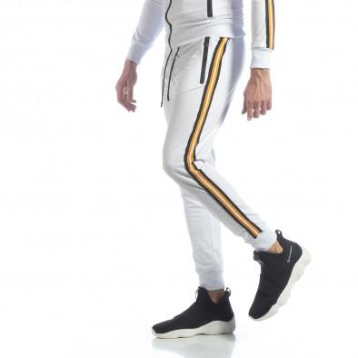 Ανδρική λευκή φόρμα 5 striped it040219-64 2