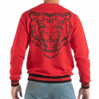 Ανδρική κόκκινη μπλούζα με πριντ στην πλάτη it240818-146 3