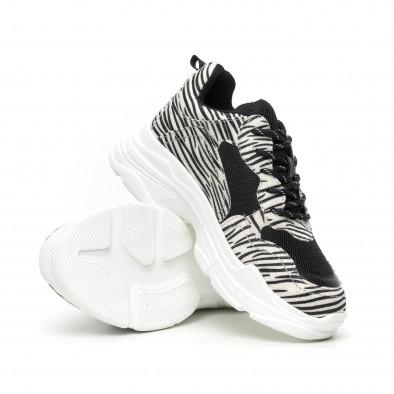 Chunky γυναικεία αθλητικά παπούτσια με μοτίβο ζέβρα it110919-8 5