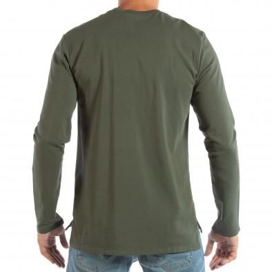 Ανδρική πράσινη βαμβακερή μπλούζα it240818-120 3