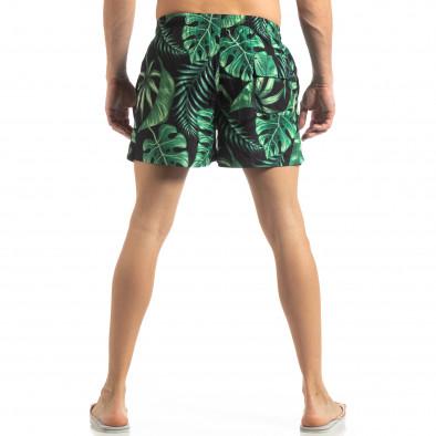 Ανδρικό πράσινο μαγιό Leaves μοτίβο it250319-13 3