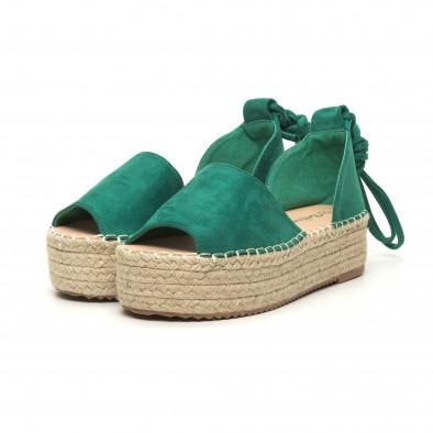 Γυναικείες πράσινες εσπαντρίγιες  it050619-25 3