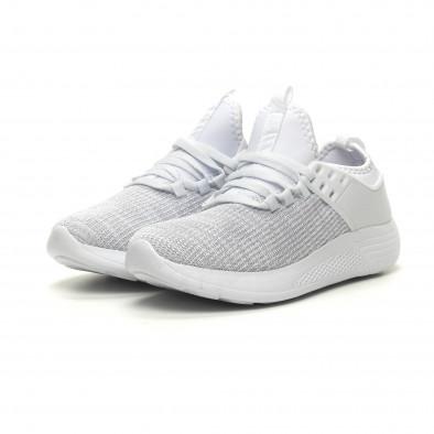 Ανδρικά λευκά μελάνζ αθλητικά παπούτσια ελαφρύ μοντέλο it040619-3 3