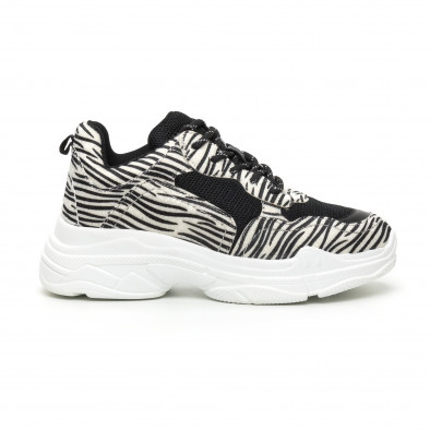 Chunky γυναικεία αθλητικά παπούτσια με μοτίβο ζέβρα it110919-8 2
