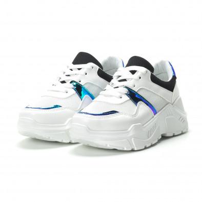 Γυναικεία λευκά sneakers με φωσφοριζέ λεπτομέρειες it250119-60 3