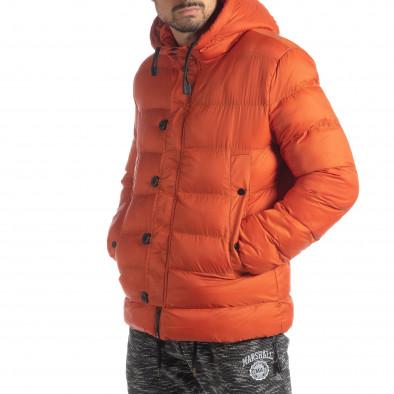 Ανδρικό πορτοκαλί χειμερινό μπουφάν  it051218-69 4