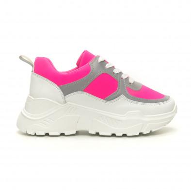 Γυναικεία Chunky ροζ αθλητικά παπούτσια it050619-59 2
