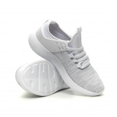 Ανδρικά λευκά μελάνζ αθλητικά παπούτσια ελαφρύ μοντέλο it040619-3 4