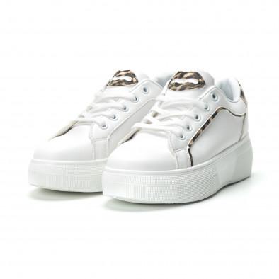 Γυναικεία λευκά sneakers Animal print it250119-69 3