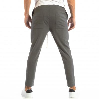Ανδρικό σκούρο γκρι παντελόνι τύπου Jogger it240818-66 3