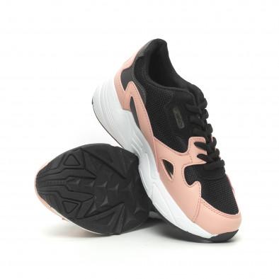 Γυναικεία ροζ αθλητικά παπούτσια με χοντρή σόλα it230519-19 4