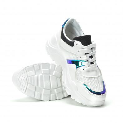 Γυναικεία λευκά sneakers με φωσφοριζέ λεπτομέρειες it250119-60 4
