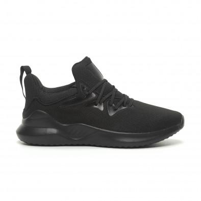 Ανδρικά μαύρα αθλητικά παπούτσια ελαφρύ μοντέλο it230519-5 2