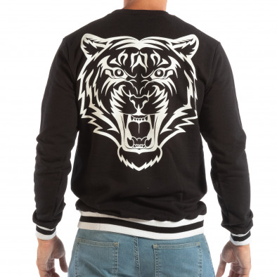 Ανδρική μαύρη μπλούζα με πριντ στην πλάτη it240818-147 3
