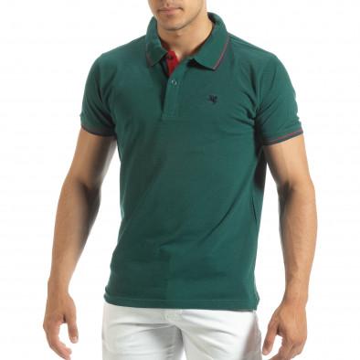 Ανδρική πράσινη polo shirt  it120619-28 2