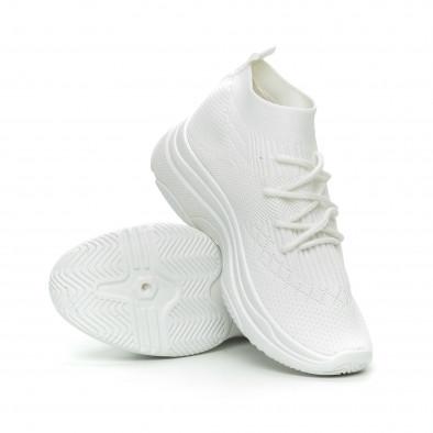 Γυναικεία λευκά αθλητικά παπούτσια κάλτσα Chunky it150319-42 3