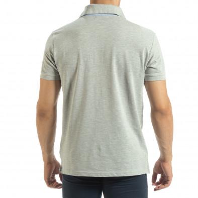Ανδρική γκρι  polo shirt  it120619-31 3