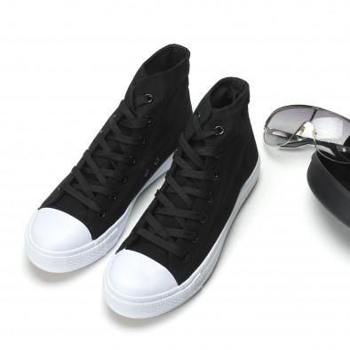 Ανδρικά μαύρα sneakers Bella Comoda it260117-53 2