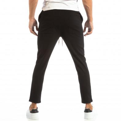 Ανδρικό μαύρο παντελόνι τύπου Jogger it240818-67 3