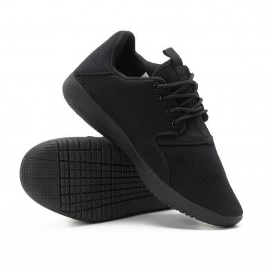 Ανδρικά μαύρα αθλητικά παπούτσια ελαφρύ μοντέλο it301118-4 4