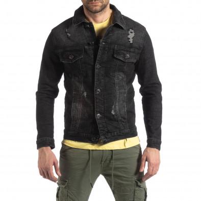 Ανδρικό μαύρο ανοιξιάτικο-φθινοπωρινό μπουφάν Justboy it210319-108 3