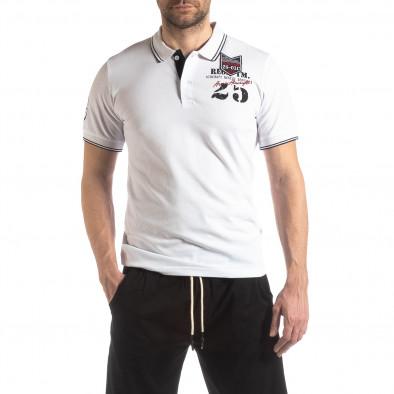 Ανδρική λευκή κοντομάνικη polo shirt Royal cup it210319-75 2