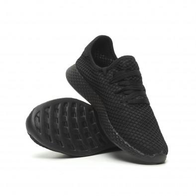 Ανδρικά μαύρα αθλητικά παπούτσια Mesh ελαφρύ μοντέλο it230519-1 4