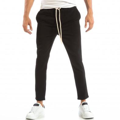 Ανδρικό μαύρο παντελόνι τύπου Jogger it240818-67 2